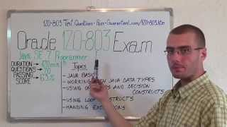 1Z0-803 – Java Exam SE 7 Test Programmer I Questions