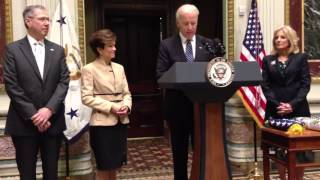Ambassador Mark Gitenstein Flag Ceremony with Vice President Biden