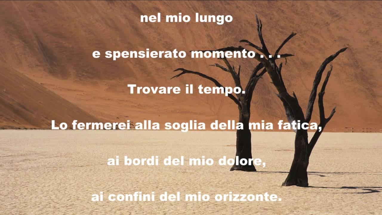 Estremamente Il Tempo. Poesia - YouTube MJ34