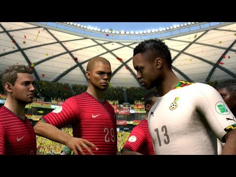 FIFA World Cup 2014: Portugal vs Ghana (Group G) Simulation (EA FIFA World Cup 2014 Brazil)