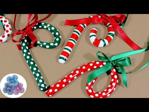 How to make Christmas Candy Canes 2014 Clay Christmas Decorations Mathie