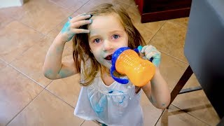 She Woke Up Blue! - Family Vlogs