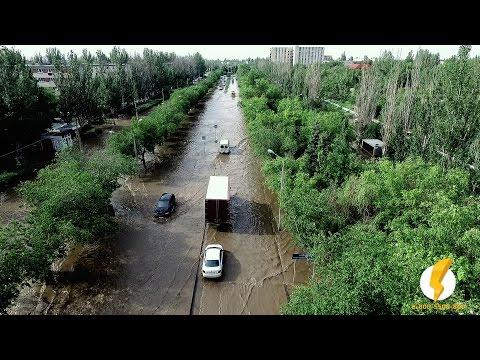 Волжский переживает очередное наводнение 2016 (ВТОРАЯ часть, потоп 25 мая, )