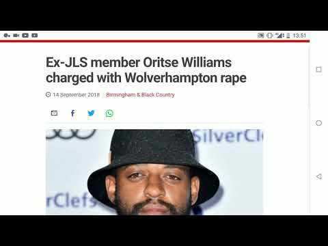 Former JLS member Oritse Williams Charged With Rape