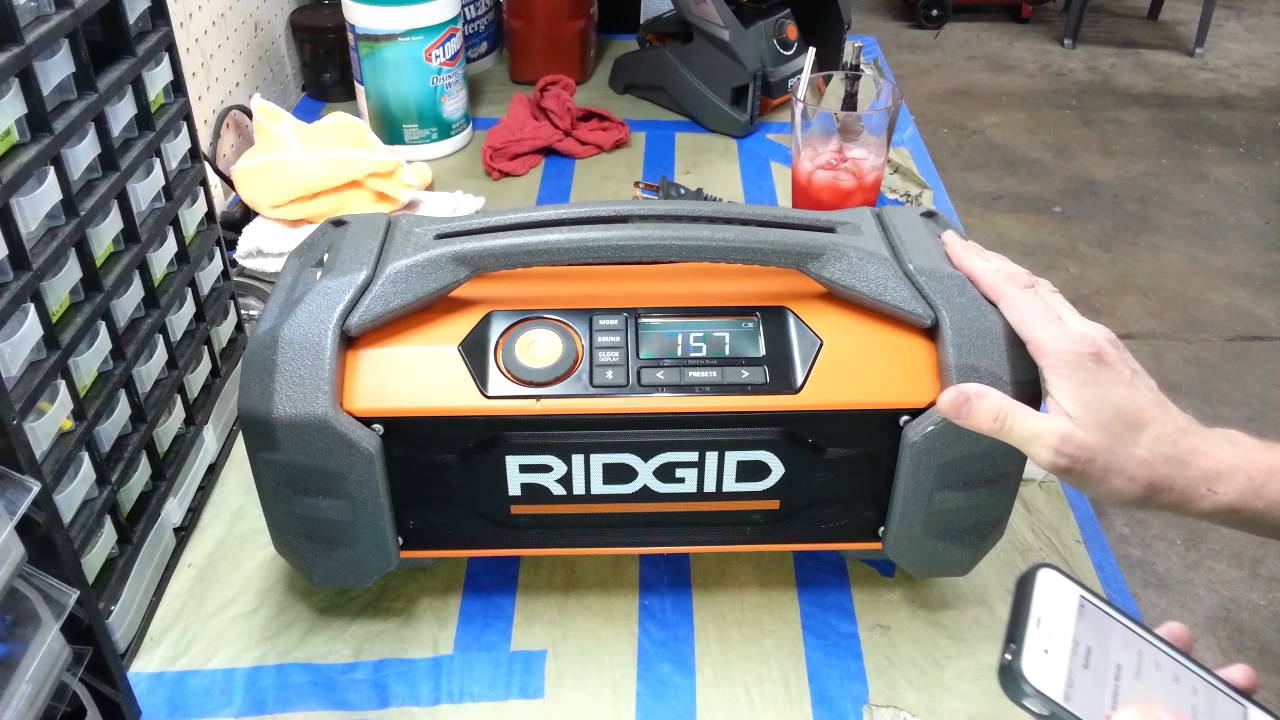 f4aaa27e063 Ridgid GEN5X 18-Volt Jobsite Radio with Bluetooth Wireless ...