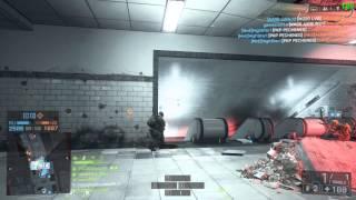 Battlefield 4 Operation Metro Gameplay - Bulldog + M249 - K/D: 186-32