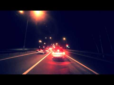 Russian Federation, Moscow Night Drive Time Lapse, in 3D + HD