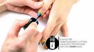 Nail Art Оливково-желтый маникюр
