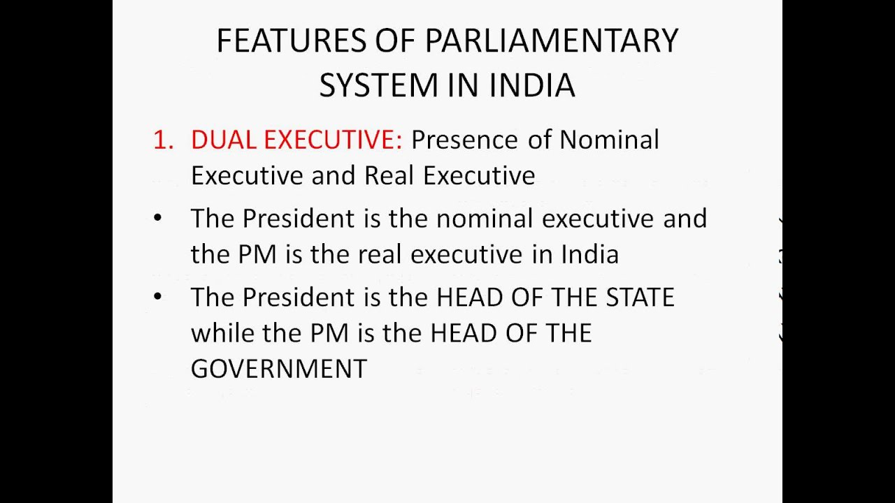 Parliamentary system of Government - YouTube