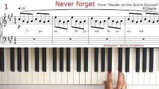 NEVER FORGET Очень красивая мелодия на пианино Ноты Very beautiful piano music Sheets Partitura