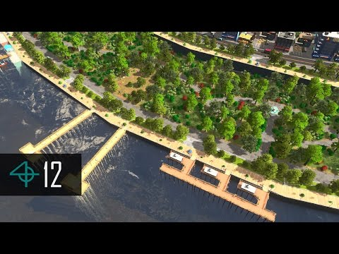 Cities: Skylines — DESIGNING THE COASTLINE - WATERFRONT PARK (Pando Outfalls Ep. 12)