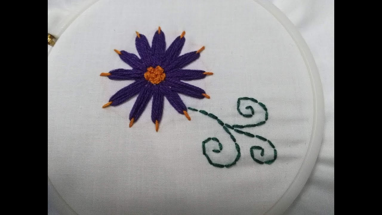 Embroidery Stitches Flowers - Stitch Fun Daisy Stitch in Two Colors +  Tutorial