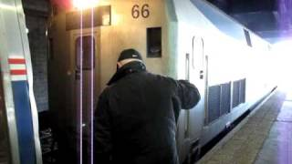 Amtrak Pennsylvanian Service No. 43 Train to Pittsburgh Changing to Diesel Locomotive