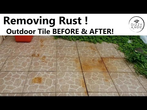 HOW TO CLEAN & REMOVE RUST | Bar Keepers Friend Review | Before & After Outdoor Patio Tiles