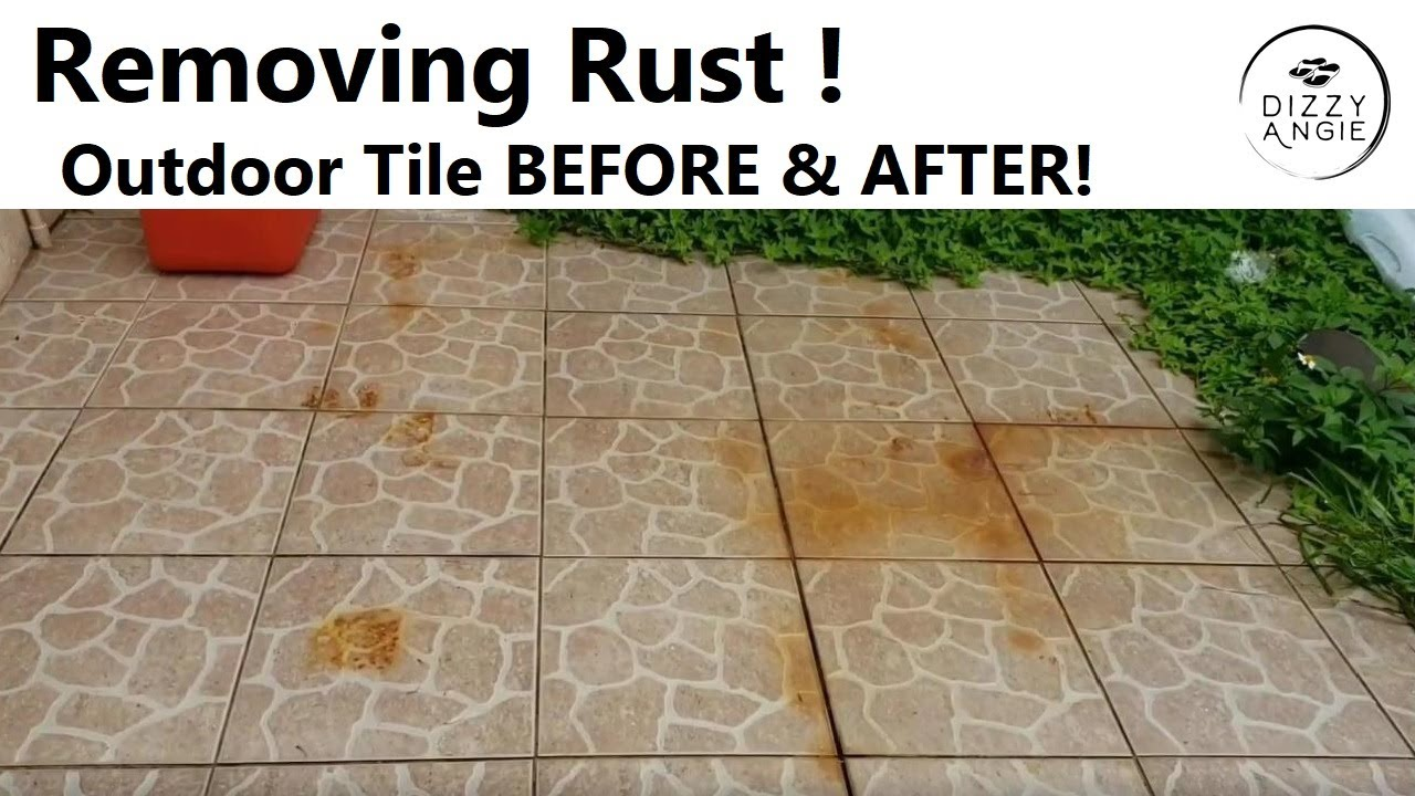 HOW TO CLEAN & REMOVE RUST  Bar Keepers Friend Review  Before & After  Outdoor Patio Tiles