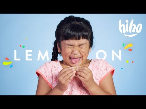 100 Kids Eat Lemon 🍋😝 | 100 Kids | HiHo Kids
