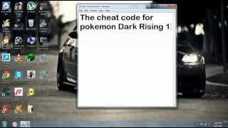 Repeat youtube video POKEMON DArk RiSiNg 2 ChEaT code