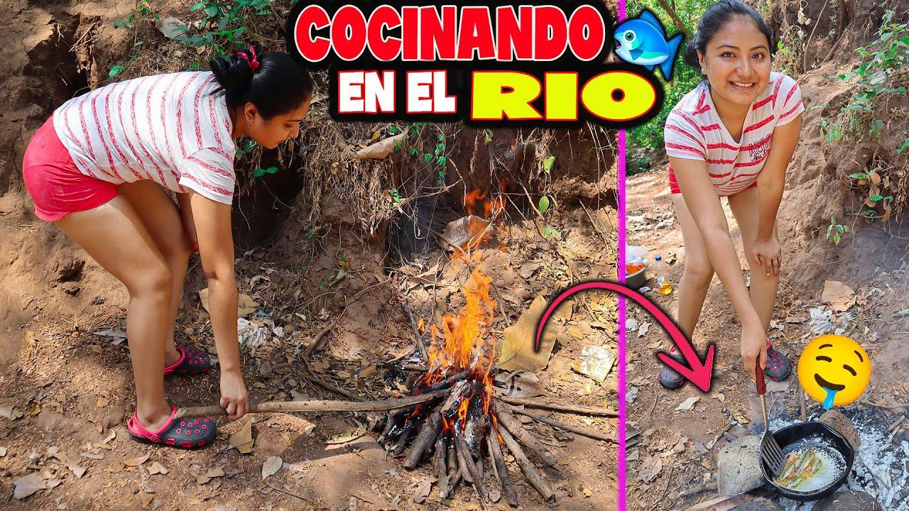 COCINANDO RICOS PESCADITOS EN EL RIO