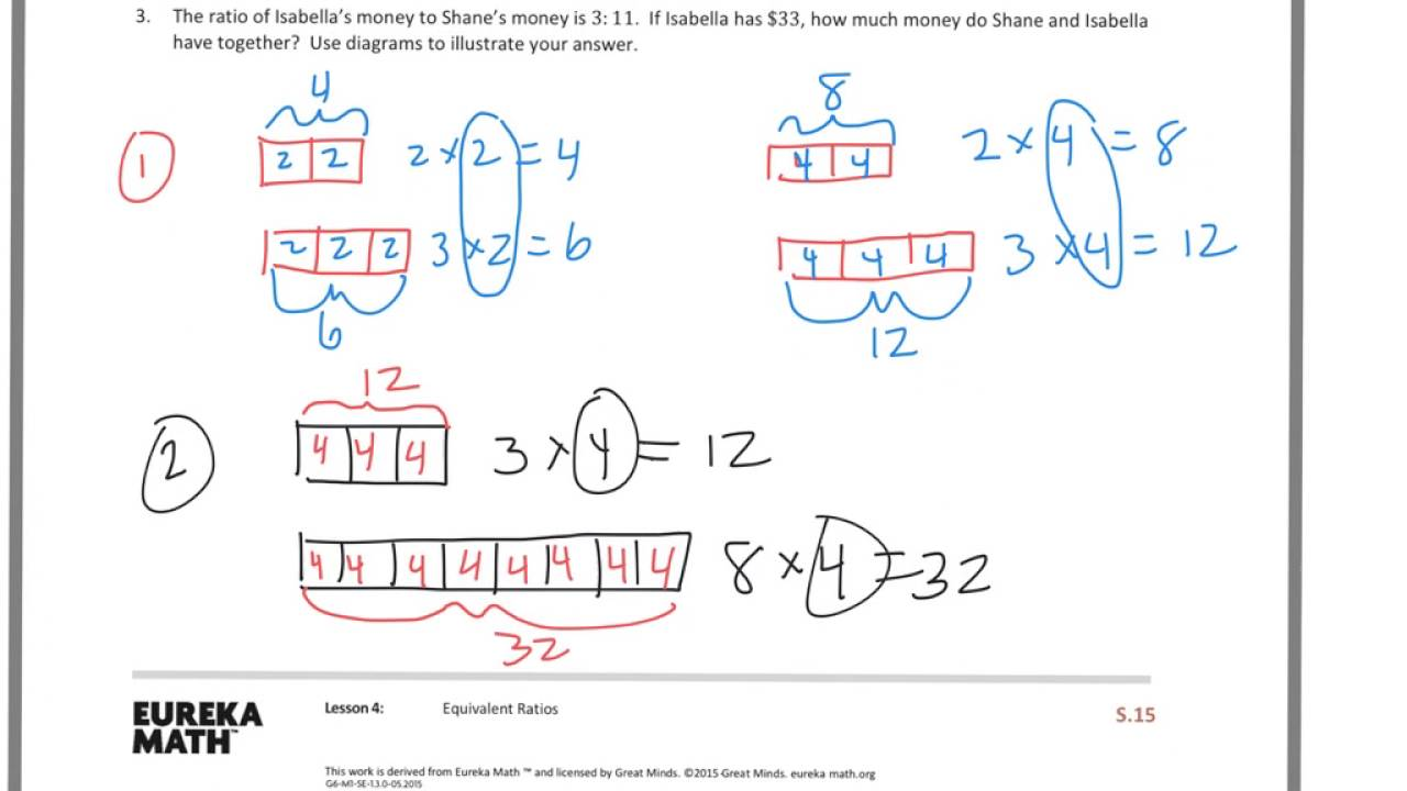 6th grade module 1 lesson 4 ps youtube rh youtube com tape diagrams ratios double line diagrams ratios worksheet [ 1280 x 720 Pixel ]