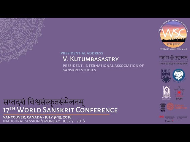 WSC2018 Kutumbasastry Presidential Address