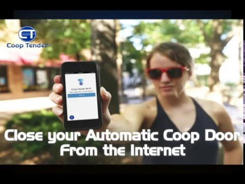 Automatic Chicken Coop Door - Coop Tender Closing Internet Wi-Fi