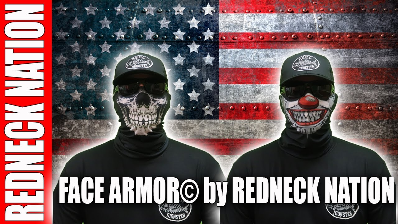 Redneck Nation's 🔥NEW🔥 Exclusive Face Armor© line of tubular bandanas are here!