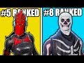 Download RANKING BEST SKINS IN FORTNITE AFTER SEASON 4! TOP 15 BEST SKINS FORNITE BEST OUTFITS!