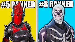 RANKING BEST SKINS IN FORTNITE AFTER SEASON 4! TOP 15 BEST SKINS FORNITE BEST OUTFITS!