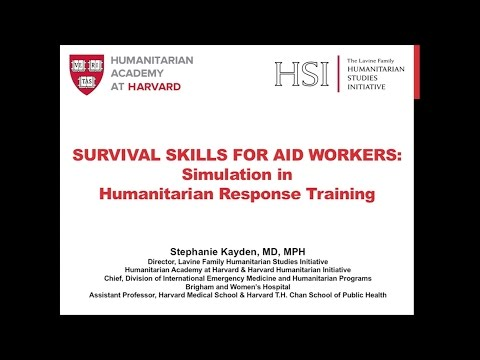 Survival Skills for Aid Workers: Simulation in Humanitarian Response Training