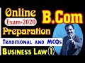 Free Classes of B.Com |  Business Law | Traditional and MCQs preparation | Mentorz Life Changers
