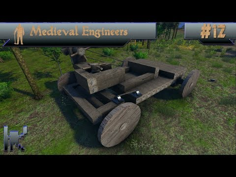 Let's Play Medieval Engineers - Episode 12: Cart Design Brainstorming With Mixed Results