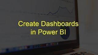 How to create Dashboard in Power BI ?