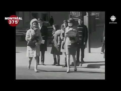 Centre ville de Montréal en 1968
