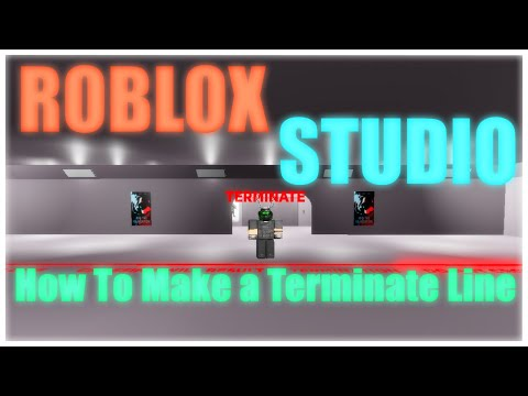 ROBLOX Studio - How To Make A Terminate Line (like In Area 02 SCP Games)