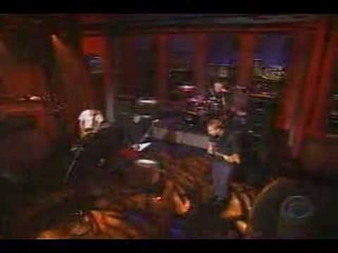 Everlong - on Letterman (first show after heart surgery)