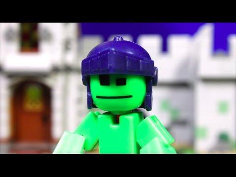 STIKBOT Knights - Stop Motion Стикботы Рыцари! мультик стикбот на русском