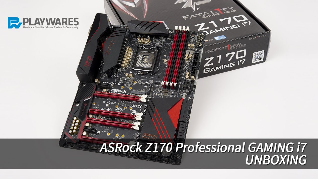 ASROCK FATAL1TY Z170 PRO GAMING I7 DRIVERS (2019)