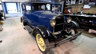 Test driving a 1928 Ford Model A