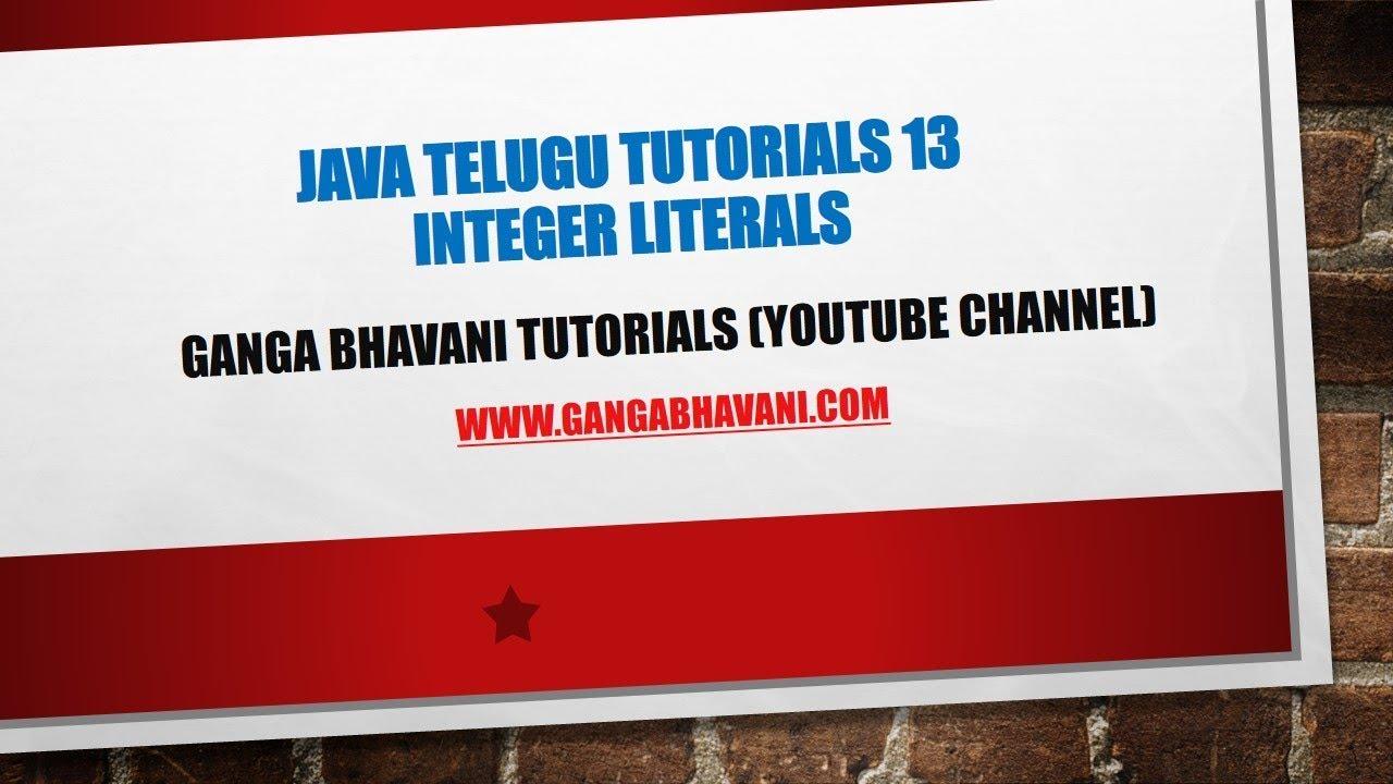Telugu java tutorials 13 integer literals youtube telugu java tutorials 13 integer literals baditri Choice Image