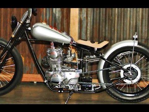 Custom Binter Merzy Kz200 Modif Harley Chopper Style Youtube