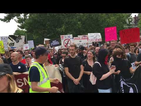 Protest rally in Boston vs 'white supremacy'