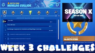 *NEW* ALL Week 3 Season 10 Challenges Guide - Worlds Collide - Fortnite Battle Royale