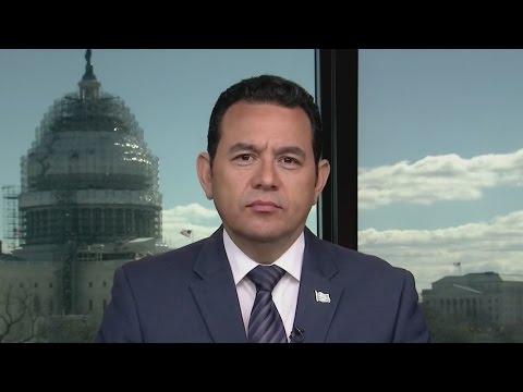 """Jimmy Morales: """"Guatemala va dando pasos en la lucha contra la corrupción"""""""