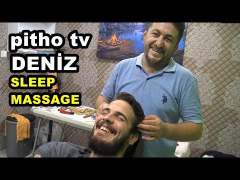 ASMR TURKISH BARBER=HAIR CRACK=pitho Tv Deniz Massage=head,back,arm,ear,neck,face,sleep Massage
