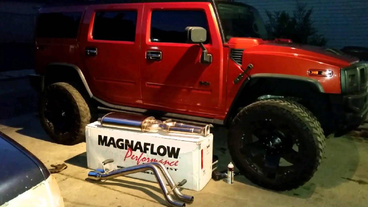Hummer h2 03 quick Magnaflow install