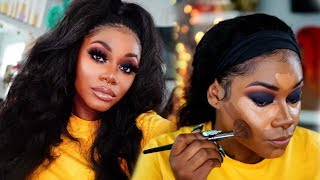 Hair n Makeup | Reviving my old frontal & MY WINTER foundation Routine | Laurasia Andrea