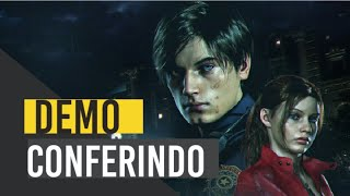 Resident Evil 2 Remake PS4| Conferindo  A DEMO| Leon Mais Sexy Do Que Nunca! 1-SHOT DEMO