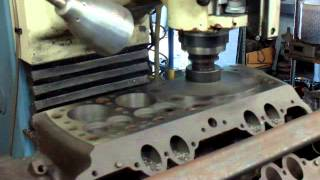Flathead Ford Resleeve, Resurface, and Power Slot Machining on the DPM3 CNC