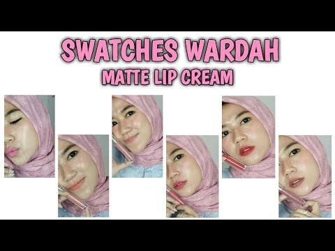 swatches-wardah-lip-cream-(01-03-04-05-08-09-17)