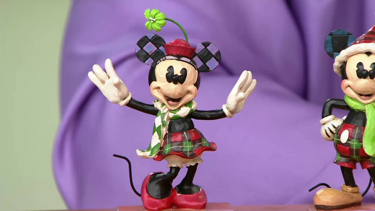 Jim shore choice of mickey minnie christmas figurine on qvc youtube